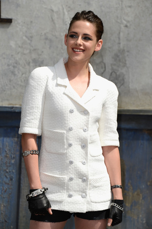Kristen Stewart attends the Chanel show as part of Paris Fashion Week Haute-Couture Fall/Winter 2013-2014 at Grand Palais on July 2, 2013 in Paris