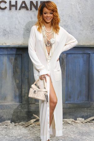 Rihanna, Chanel show, Haute Couture Fall Winter 2013, Paris Fashion Week