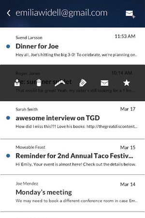 A screenshot of Boomerang: Email App for Gmail on Android