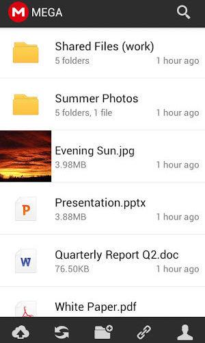 'Mega' Android app
