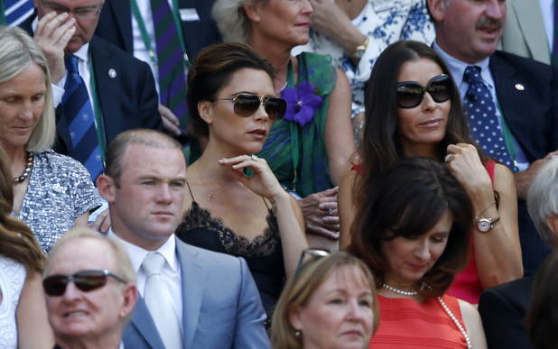 Wayne Rooney, Victoria Beckham and Tana Ramsay