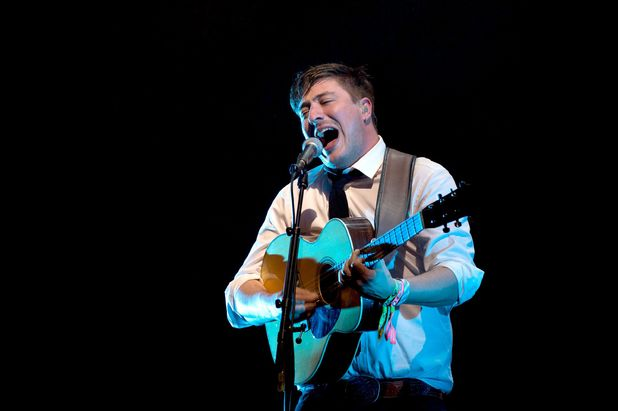 Marcus Mumford from Mumford & Sons at Glastonbury 2013