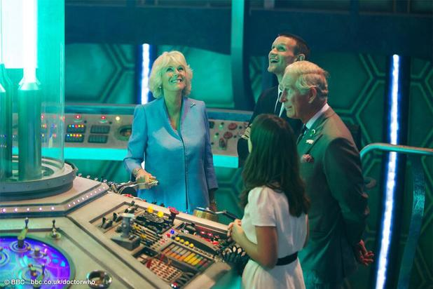 Their Royal Highnesses take a trip aboard the TARDIS.