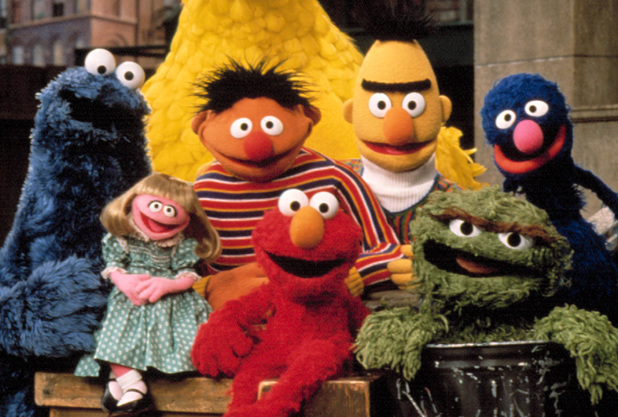 The famous Sesame Street characters