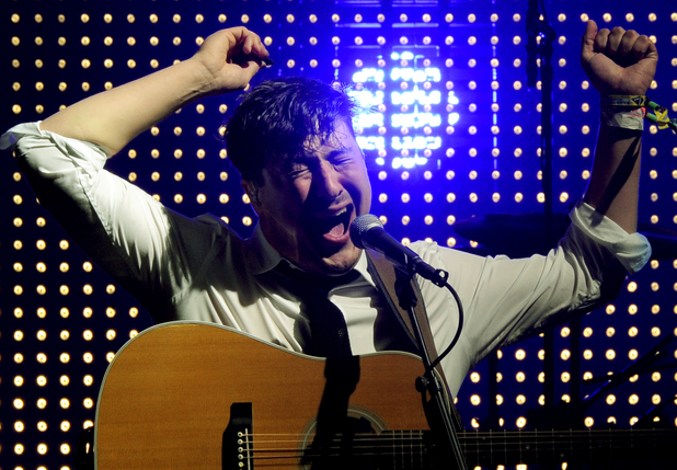 Marcus Mumford of Mumford & Sons, Glastonbury Festival ~~ Sunday June 30, 2013