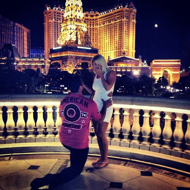 Brooke Hogan and NFL star Phil Costa get engaged in Las Vegas