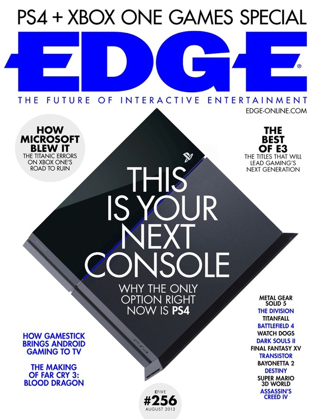 Edge Magazine PS4 Cover