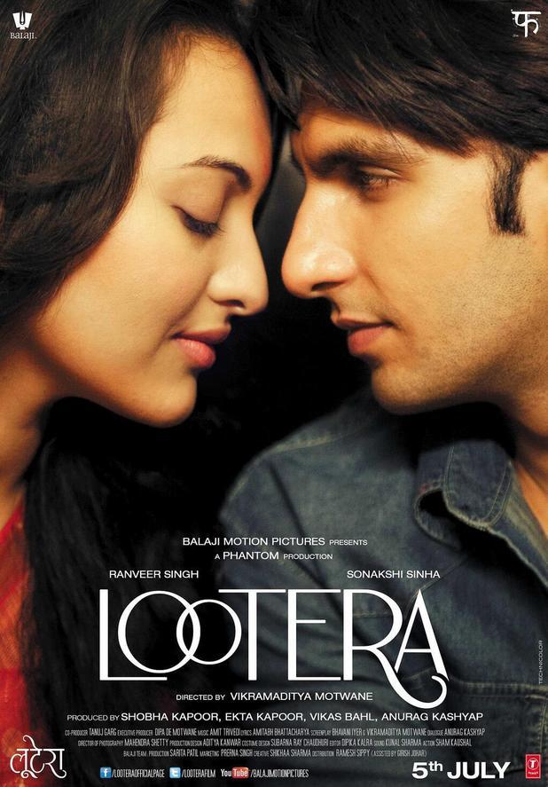 Sonakshi Sinha and Ranveer Singh in 'Lootera' poster