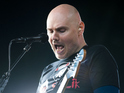Billy Corgan of Smashing Pumpkins performing on the Other Stage at the Glastonbury Festival, at Worthy Farm in Somerset.