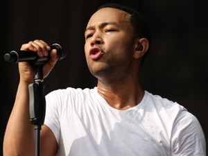 John Legend performing on the Main Stage at the Yahoo! Wireless Festival, at the Queen Elizabeth Olympic Park in east London.