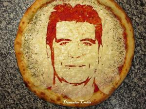 Domenico Crolla's celebrity pizza faces: Simon Cowell