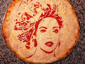 Domenico Crolla's celebrity pizza faces: Beyonce