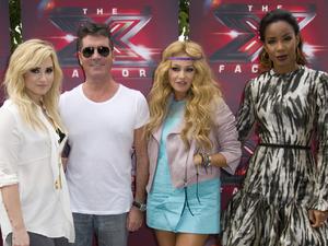 Demi Lovato, Simon Cowell, Paulina Rubio, Kelly Roland, X Factor USA