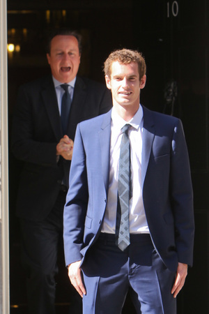 Wimbledon champion Andy Murray attends a meeting with Prime Minister David Cameron at 10 Downing Street