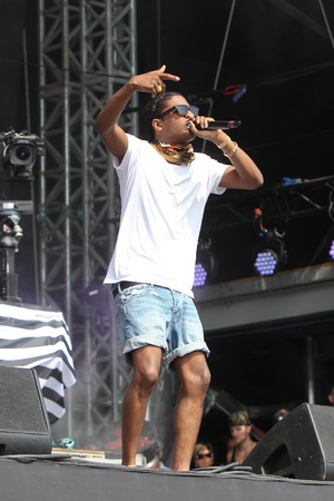 A$AP Rocky performing at the 2013 Wireless Festival, July 14