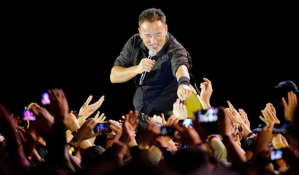 Bruce Springsteen and the E Street Band performing in Concert in Sweden