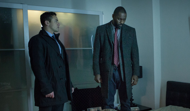 DS Justin Ripley  (Warren Brown) & DCI John Luther (Idris Elba) in 'Luther' episode two