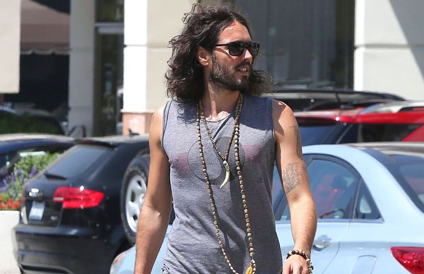 Russell Brand out and about, Los Angeles, America, bulge