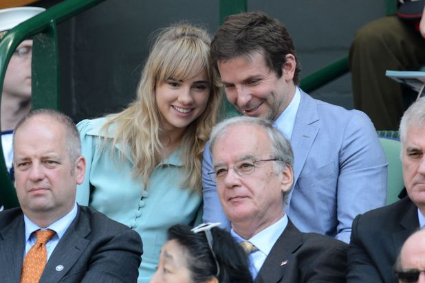Suki Waterhouse and Bradley Cooper Wimbledon Tennis Championships, Men's Singles Final, London, Britain