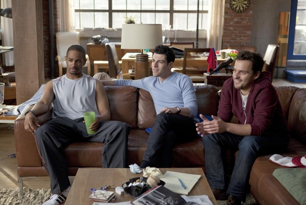 'New Girl' pilot episode: Coach (Damon Wayans Jr), Schmidt (Max Greenfield) and Nick (Jake Johnson)