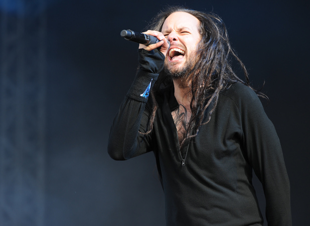 Jonathan Davis from Korn performing at the Download Festival 2013