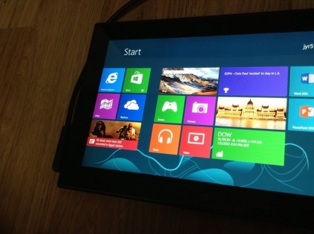 Alleged leaked image of Nokia's Windows RT tablet