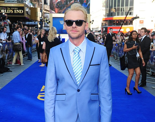 Simon Pegg arriving for the world premiere of The World's End, at the Empire Leicester Square, London.
