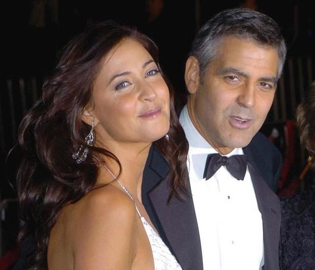 George Clooney and his girlfriend Lisa Snowdon arrive for the premiere of Ocean's Twelve at the Grauman's Chinese Theatre in Hollywood, California.