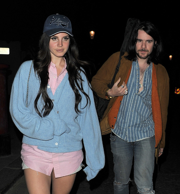 Lana Del Rey and her boyfriend Barrie-James O'Neill leaving a recording studio
