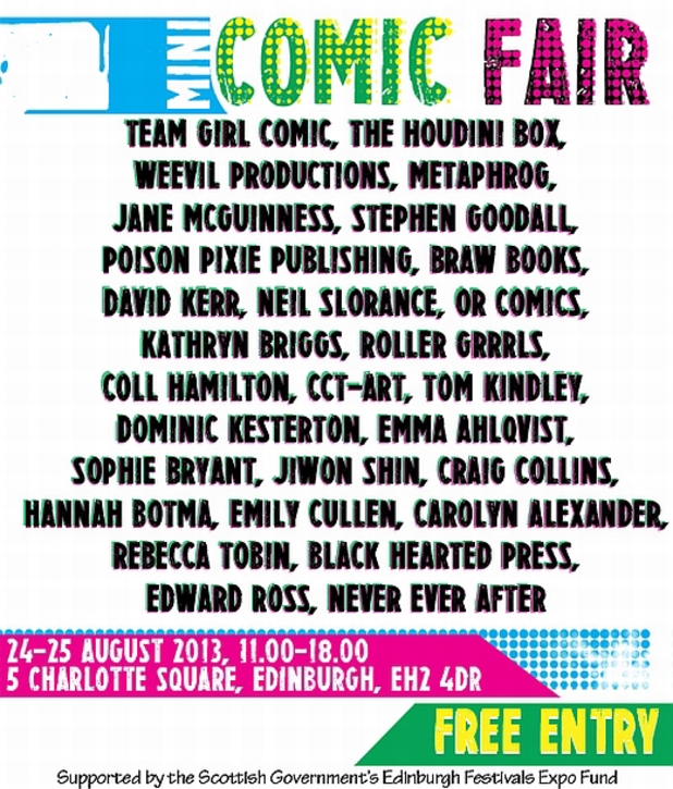 Stripped Mini Comic Fair lineup