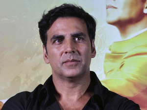 "Akshay Kumar attends a press conference to promote his upcoming movie "" OMG Oh My God"" in Ahmadabad, India, Monday, Sept. 24, 2012."