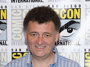 Writer Steven Moffat at the 'Doctor Who' panel at Comic-Con 2013