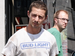 Shia Labeouf leaving an Ace Hardware Store, Sherman Oaks with a bucket