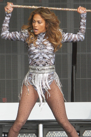 Jennifer Lopez performing in Hyde Park as part of Barclaycard British Summer Time