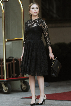 Scarlett Johansson in Dolce and Gabbana commerical filmed in Manhattan, New York, Martin Scorsese
