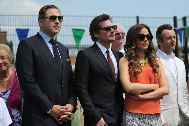 David Walliams, Len Wiseman, Kate Beckinsale and Michael Sheen
