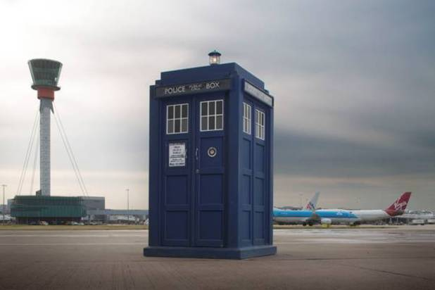 Doctor Who's Tardis lands at Heathrow