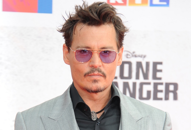 Johnny Depp at the Lone Ranger premiere in Berlin.