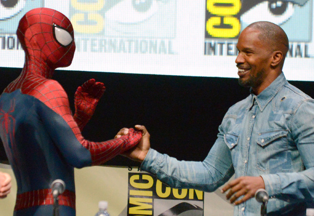 Jamie Foxx meets Spiderman.