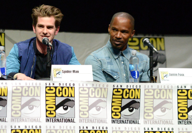 Andrew Garfield and Jamie Foxx