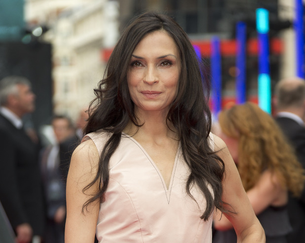 Famke Janssen arriving for the UK Premiere of The Wolverine, at the Empire Leicester Square, London.