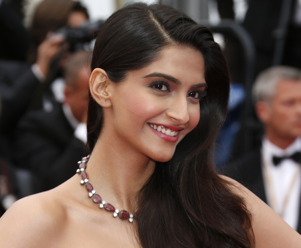 Sonam Kapoor arrives for the screening of the film Young & Beautiful at the 66th international film festival, in Cannes