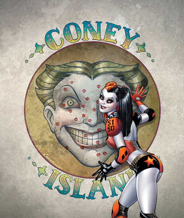 Harley Quinn #1 cover design