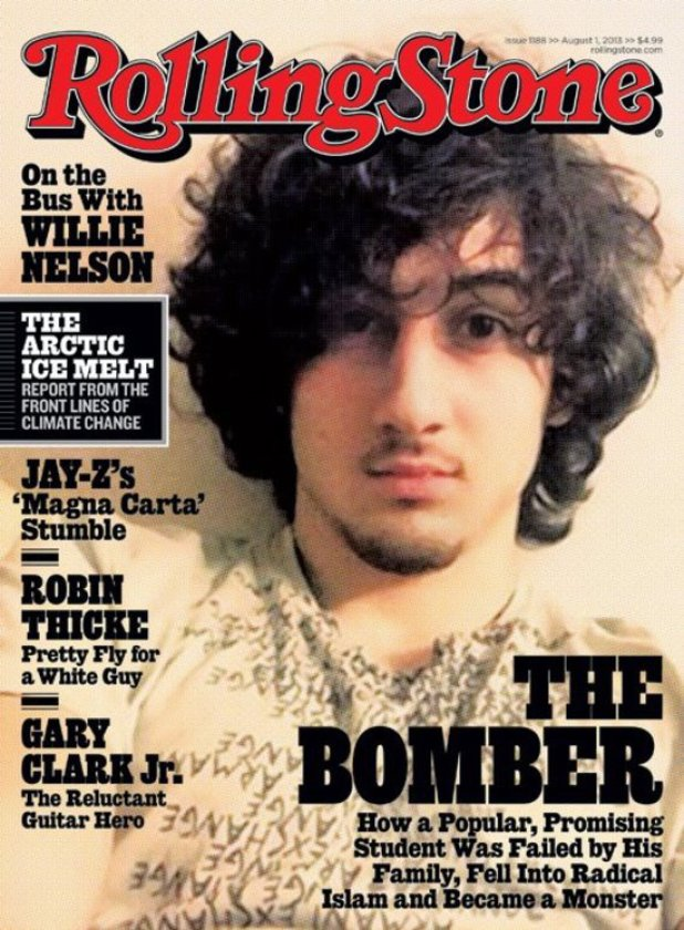 Jahar Tsarnaev on the front of Rolling Stone