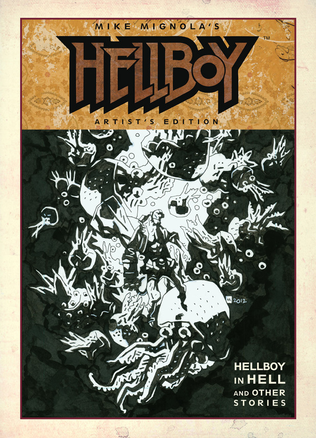 Cover design for Hellboy in Hell: Artist's Edition