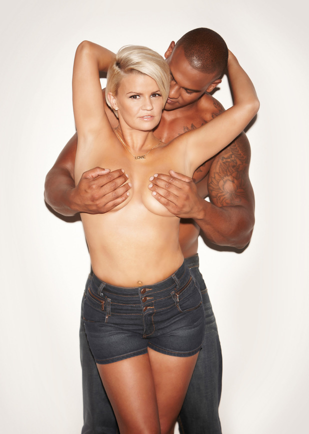 Kerry Katona poses topless with George Kay for New Magazine