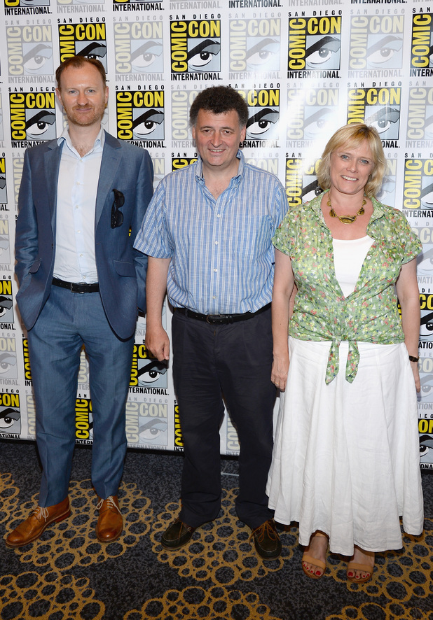 Mark Gatiss, Steven Moffat and Sue Vertue