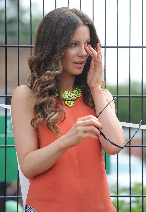 Kate Beckinsale in tears