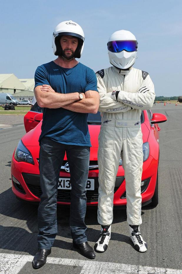 Hugh Jackman with The Stig on 'Top Gear'