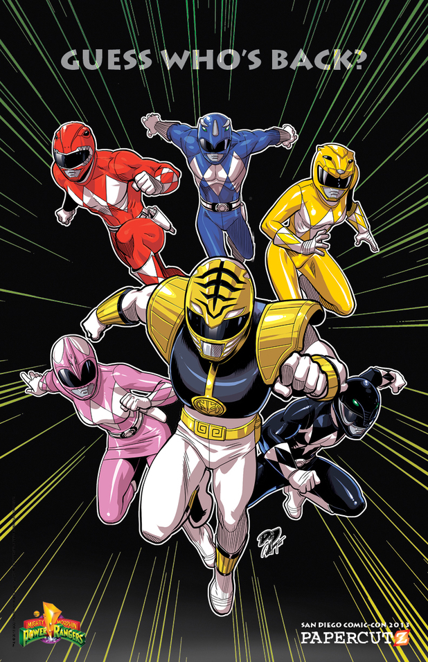 Mighty Morphin Power Rangers graphic novel promo